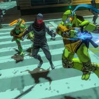 TMNT: Mutants in Manhattan Leonardo va couper en deux des hommes de Shredder