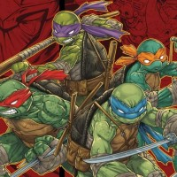 TMNT: Mutants in Manhattan artwork présentant les 4 tortues ninjas