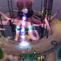 The Deadly Tower of Monsters Boss poule géant attaque le héros avec ses fluides corporels
