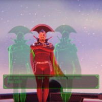 The Deadly Tower of Monsters méchant en hologramme