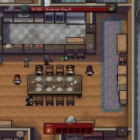 The Escapists The Walking Dead héros au petit déjeuner dans une maison