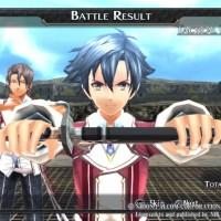 The Legend of Heroes Trails of Cold Steel écran de résultat de combat Rean range son katana