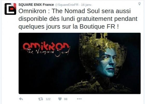 Tweet de Square Enix sur Omikron