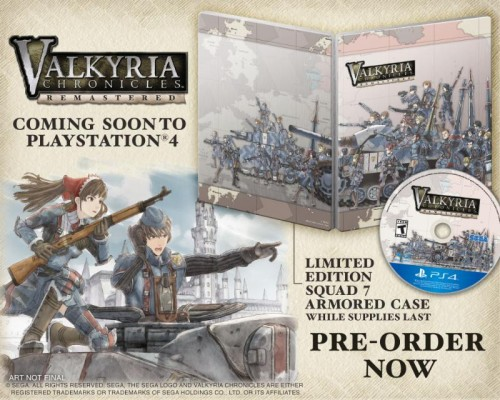 Valkyria Chronicles Remastered édition limitée avec steelbook