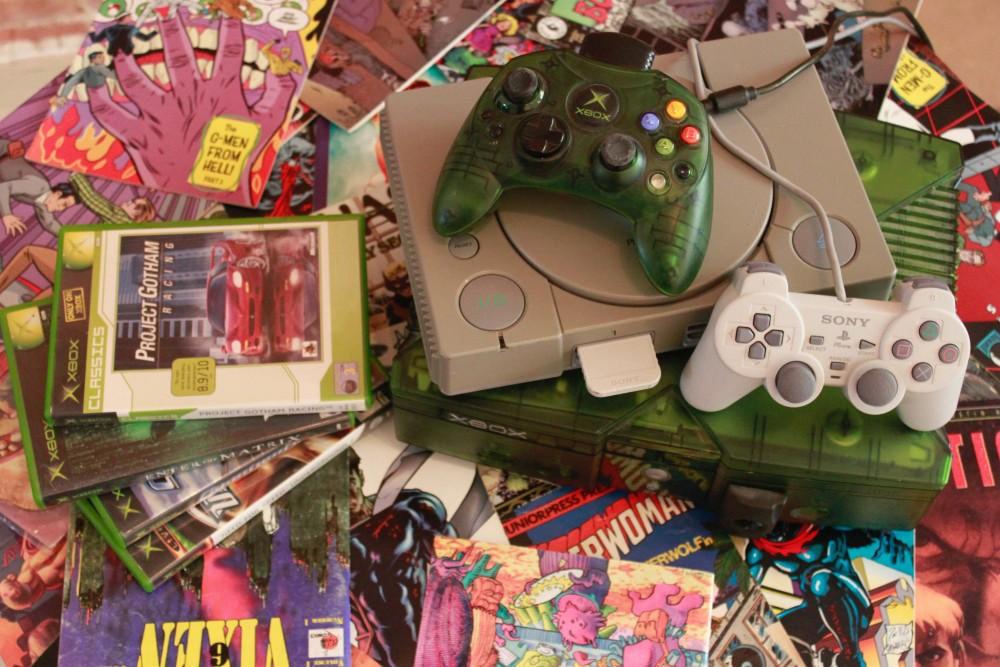 La Xbox et la PlayStation à l'Arcade Hotel