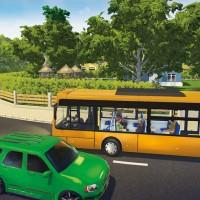 Croisement entre le bus et une voiture dans Bus Simulator 16