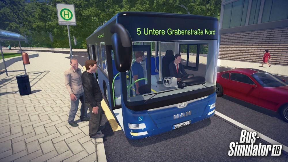 Des passagers montent dans le bus dans Bus Simulator 16