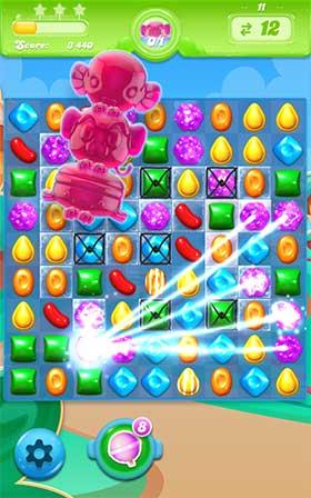 Candy Crush Jelly Saga combo de bonbons