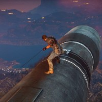 Just Cause 3 Rico sur un missile