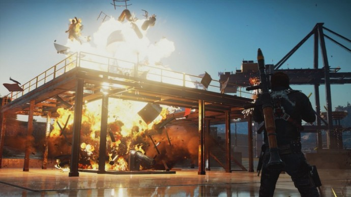 Just Cause 3 explosion d'un réservoir