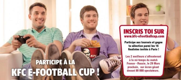 L'affiche de participation de la KFC E-Football Cup