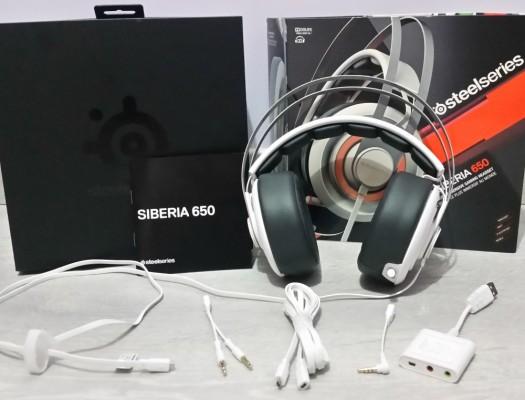 Le pack du casque Siberia 650 de Steel Series