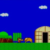 Alex Kidd in Miracle World Alex frappe un boeuf