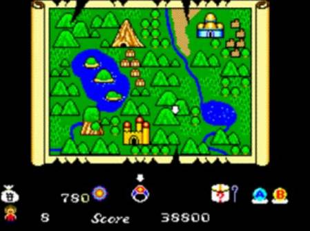 Alex Kidd in Miracle World carte du monde