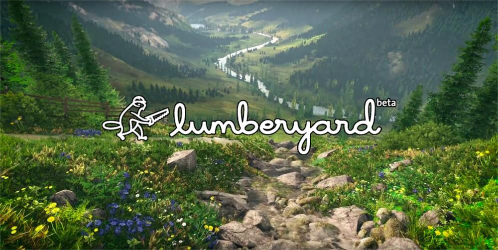 Rendu du moteur 3D Lumberyard avec logo