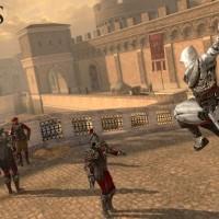 Assassin's Creed Identity héros attaque un garde en plongeant avec sa lame secrète