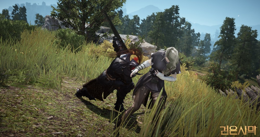 Black Desert Online deux guerrriers se battent