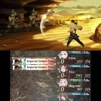 Bravely Second: End Layer Edéa attaque des soldats impériaux