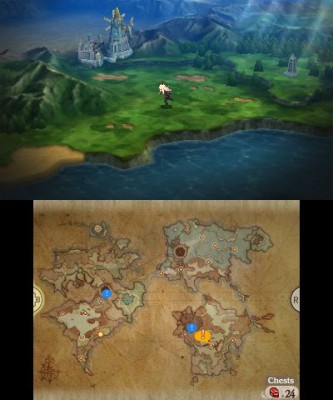 Bravely Second End Layer balade sur la carte du monde