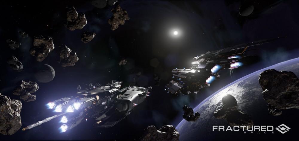 Fractured Space vaisseaux dans l'espace