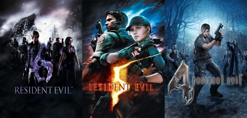 Jaquettes Resident Evil 4 5 et 6