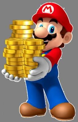 Mario porte des pièces