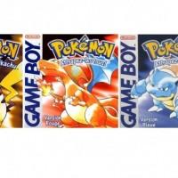 Pokémon Bleu Rouge et Jaune jaquettes Game Boy