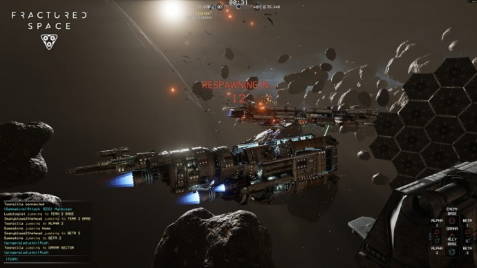 Fractured Space temps de respawn