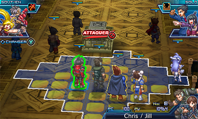 Project X Zone 2 map