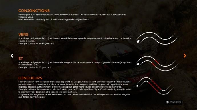 Le glossaire du copilote dans Sébastien Loeb Rally Evo