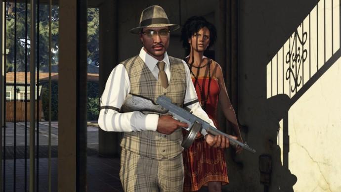 GTA Online Saint-Valentin coupe avec mitraillette