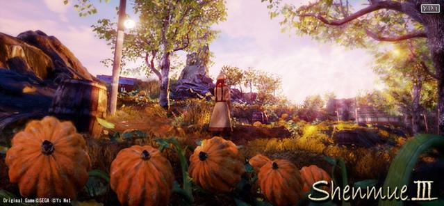 Sha Hua dans un jardin dans Shenmue 3