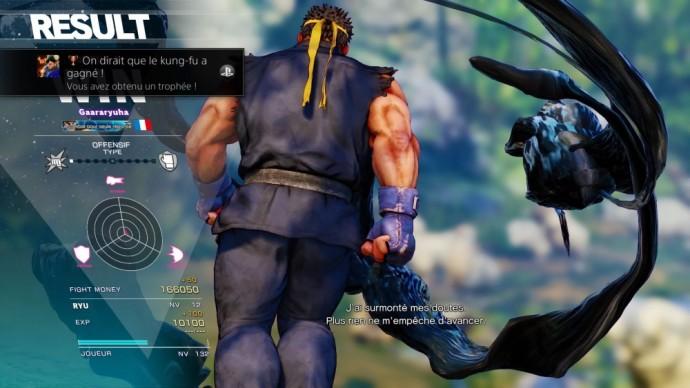 Street Fighter V écran résultat combat en ligne classé