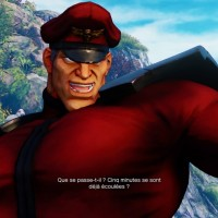 Street Fighter V Bison se moque de son adversaire