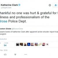 Swatting Katherine Klark Tweet