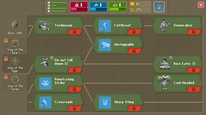 Punch Club arbre de compétences