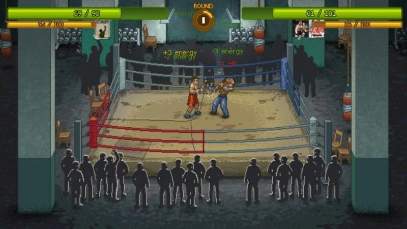 Au centre du ring dans Punch Club