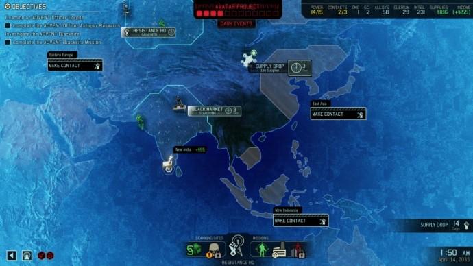XCOM 2 Geoscape