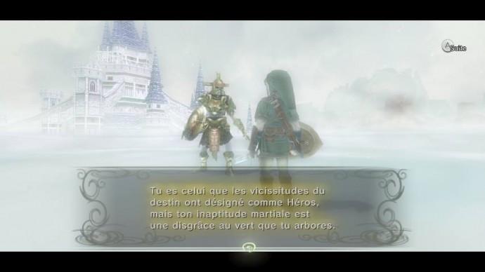 Twilight Princess HD Link et son maître d'armes