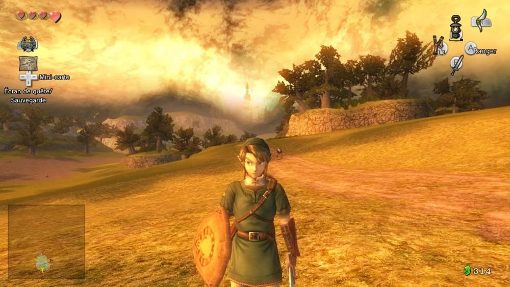 Link dans les plaines d'Hyrule