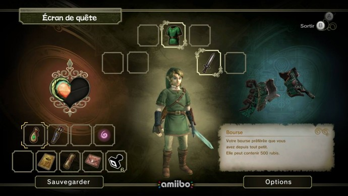 Twilight Princess HD Ecran de quête
