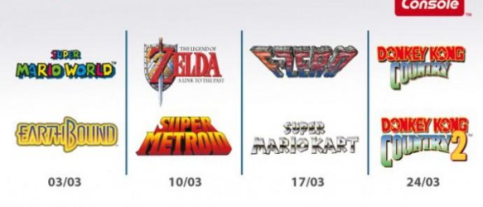 Planning à venir des jeux Super Nintendo sur New 3DS