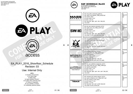 Programme leaké EA Play