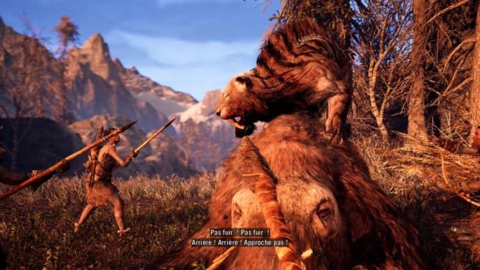 Far Cry Primal Tigre à dents de sabre contre Wenja