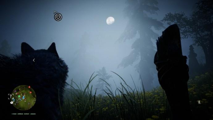 Far Cry Primal nuit avec lune