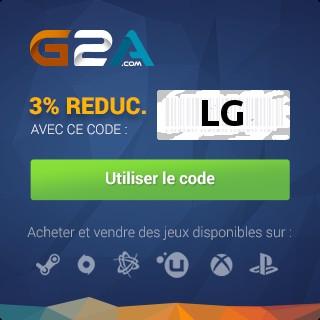 Utiliser code réduction G2A : LG
