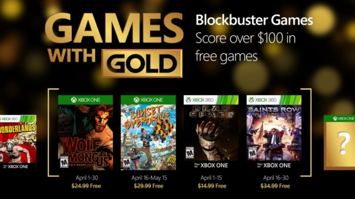 Games with Gold avril 2016