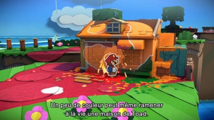 Maison à repeindre Paper Mario : Color Splash