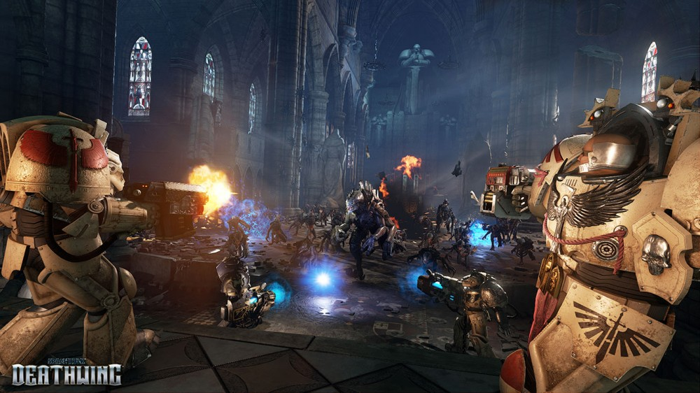 sPACE hULK dEATHWING tERMINATORS SE BATTENT CONTRE DES GENESTEALERS