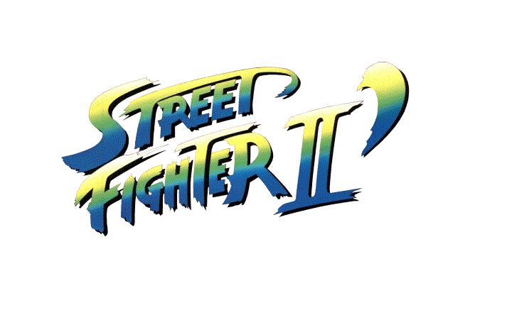 Logo Street Fighter II' bleu sur fond blanc